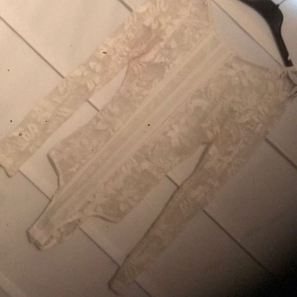 Charlotte Russe Tops - White Lace Body Suit